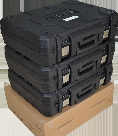 手提箱凹凸槽设计摞放稳定