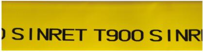 扁形熱縮管6號字-黃色